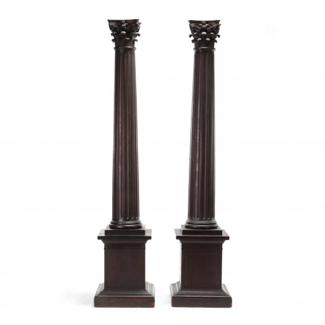 pair-of-large-carved-walnut-corinthian-columns