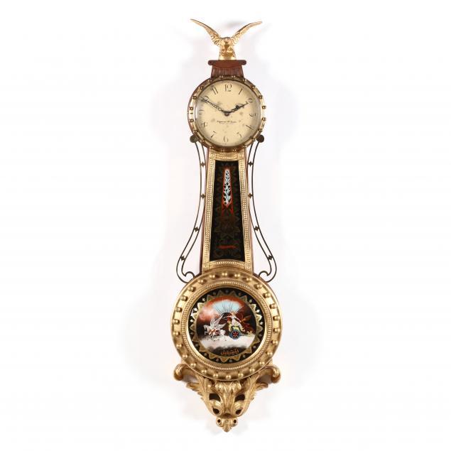elmer-o-stennes-1911-1975-federal-style-eglomise-banjo-clock