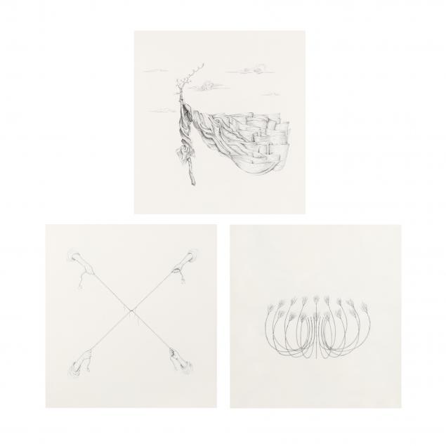 michael-whittle-b-1976-i-torus-i-i-sketch-for-st-christopher-i-and-i-hands-with-chiasma-i