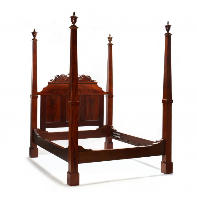 mitchell-and-rammelsberg-tall-post-mahogany-bed