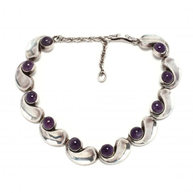 silver-and-amethyst-comma-necklace-antonio-pineda