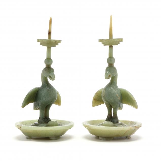a-pair-of-chinese-jade-duck-and-tortoise-candle-prickets