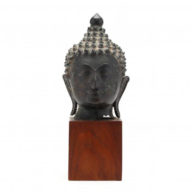 a-thai-bronze-buddha-head