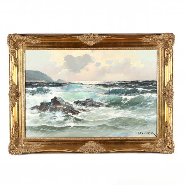 alexander-dzigurski-ca-1911-1995-crashing-surf