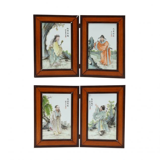 a-set-of-four-inscribed-chinese-famille-rose-figural-porcelain-plaques