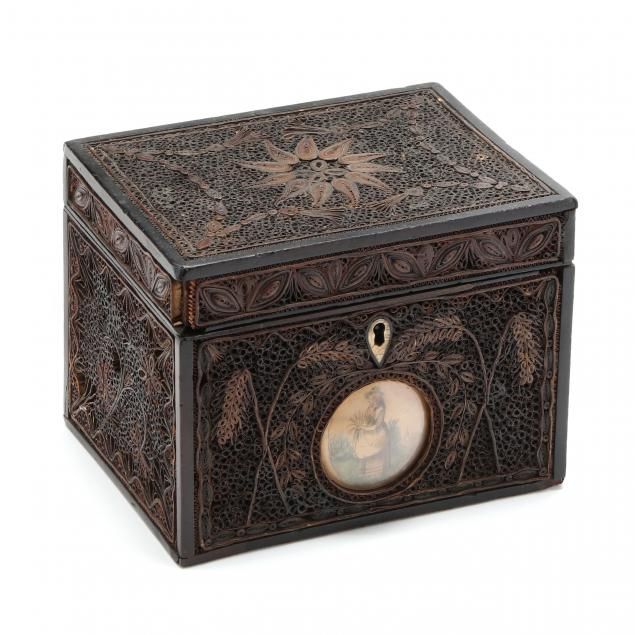georgian-quill-work-tea-caddy-dated-1794