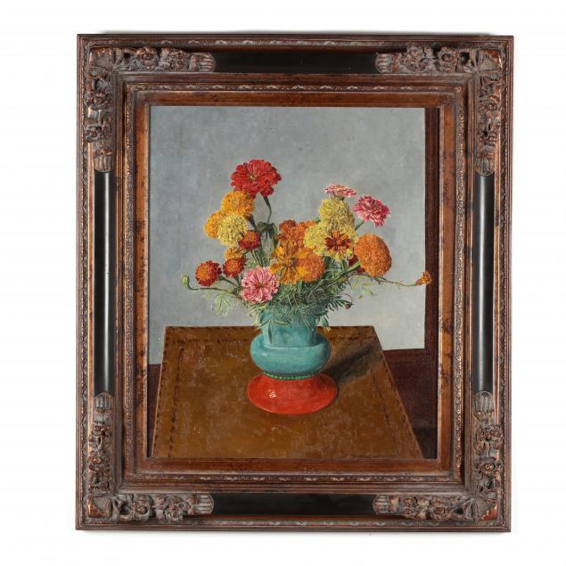 hans-weingaertner-german-nj-1896-1970-still-life-with-zinnias-marigolds