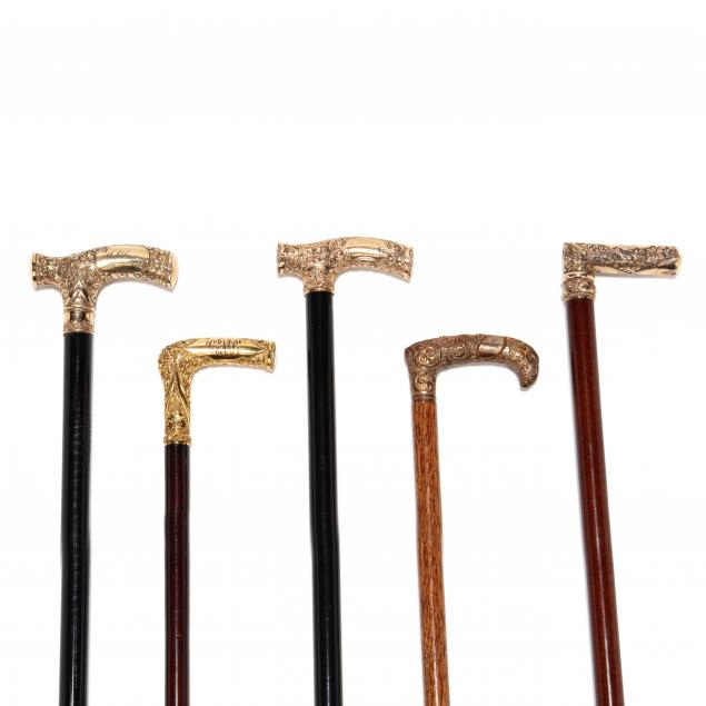 five-19th-century-gold-topped-canes