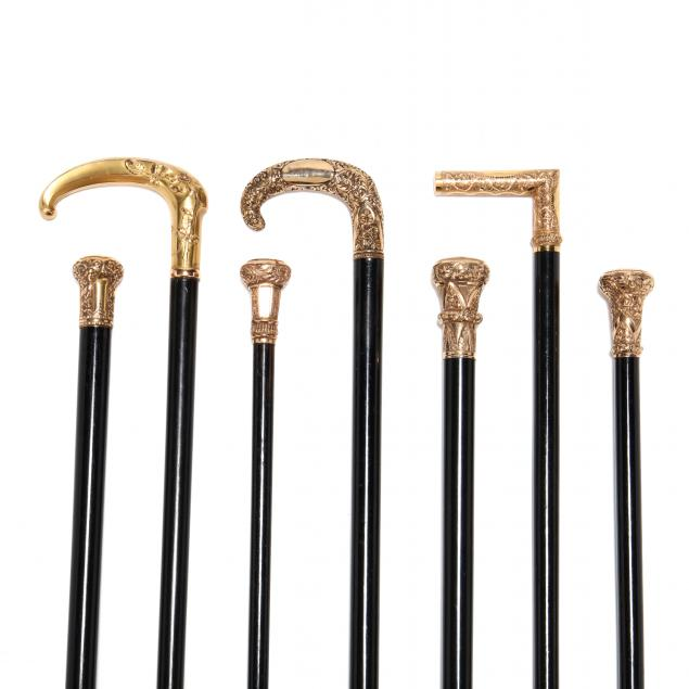 seven-19th-century-gold-topped-canes