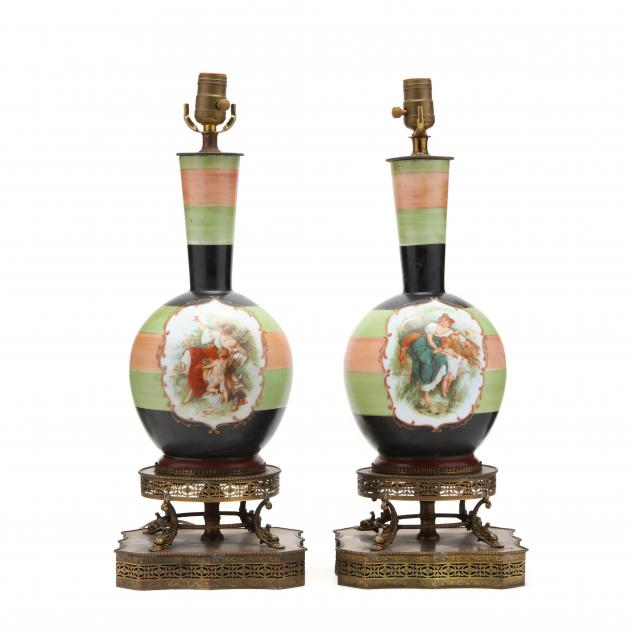 pair-of-continental-painted-porcelain-table-lamps