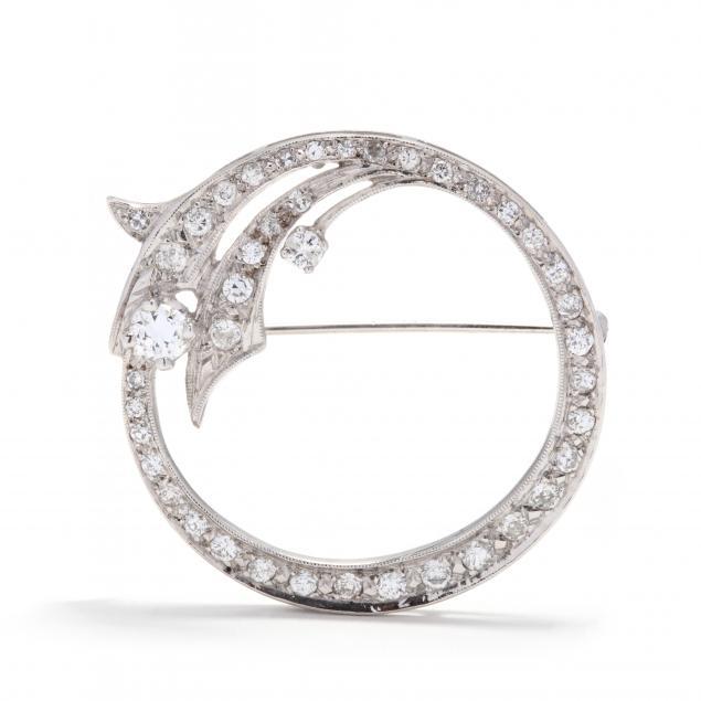 art-deco-white-gold-and-diamond-circle-brooch