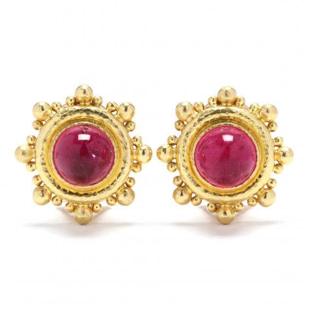 19kt-gold-and-pink-tourmaline-earrings-elizabeth-locke