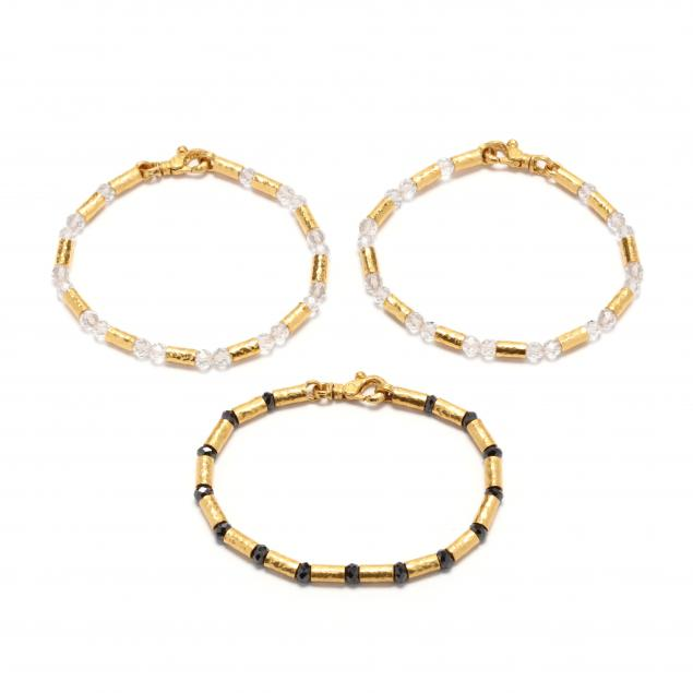 three-high-karat-gold-and-gem-set-bracelets-gurhan