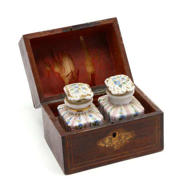 inlaid-french-tea-caddy-with-two-lidded-jars