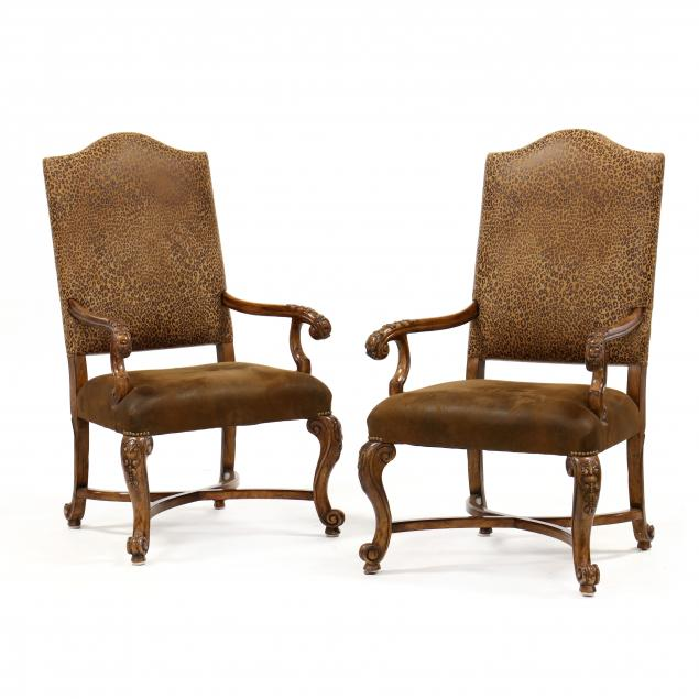 pair-of-contemporary-spanish-style-carved-hall-chairs