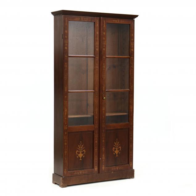 antique-continental-inlaid-bookshelf