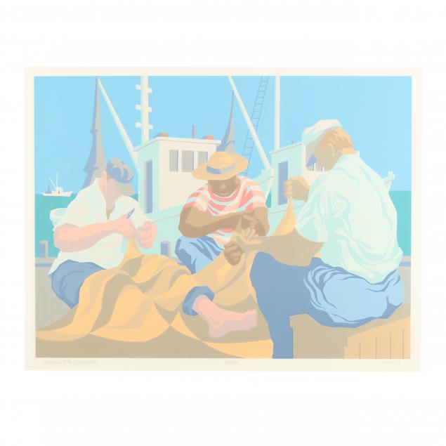 claude-howell-nc-1915-1997-i-mending-nets-sunny-day-i