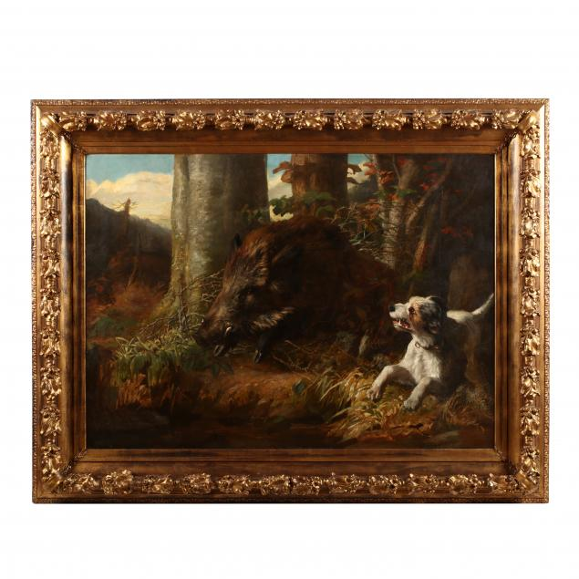 louis-benoit-antoine-tuerlinckx-belgian-1820-1894-the-boar-hunt