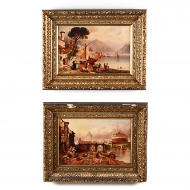 granville-perkins-ny-md-1830-1895-pair-of-italian-scenes