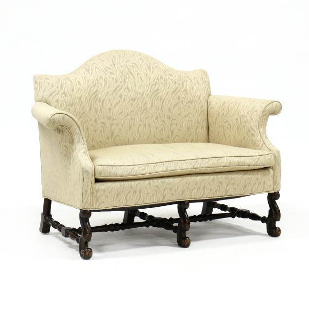 spanish-style-carved-walnut-settee