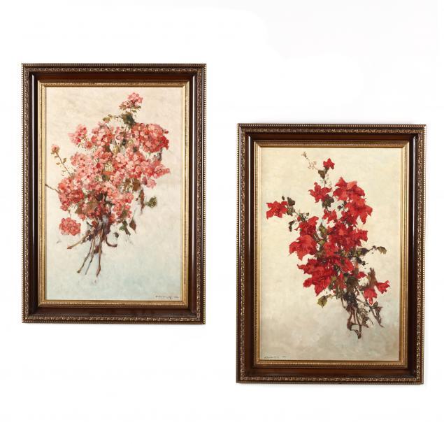 alexander-dzigurski-ca-1911-1995-a-pair-of-floral-still-life-paintings