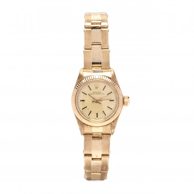 lady-s-14kt-oyster-perpetual-watch-rolex
