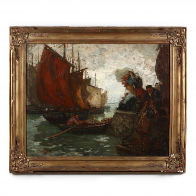augustus-b-koopman-1869-1914-farewell-from-the-quay