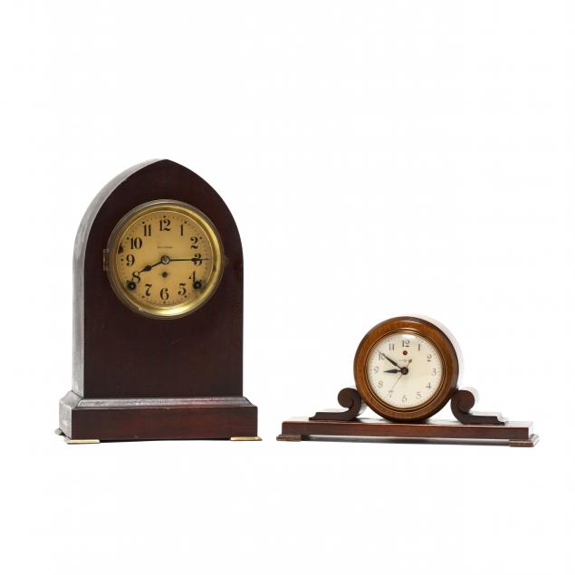 two-vintage-clocks