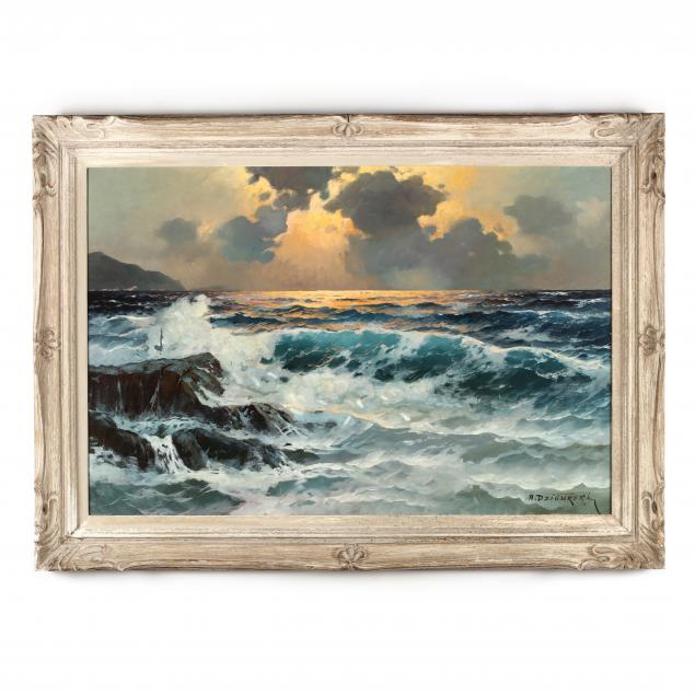 alexander-dzigurski-ca-1911-1995-seascape-at-sunset