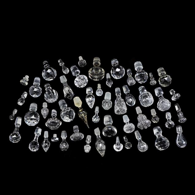 large-group-of-glass-and-crystal-stoppers