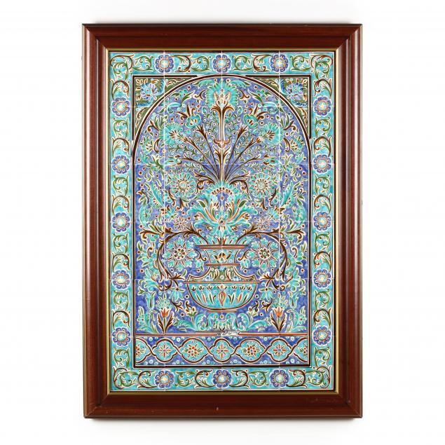 a-framed-mural-of-middle-eastern-tiles