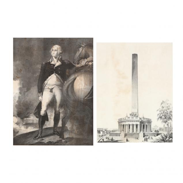 two-washington-monument-fundraising-prints-from-noted-antebellum-virginia-family