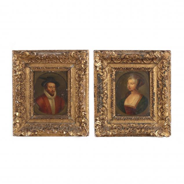 pair-of-antique-portraits-picturing-anne-boleyn-and-sir-walter-raleigh
