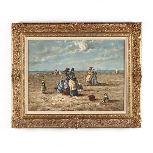 manner-of-eugene-boudin-french-1824-1898-on-the-beach