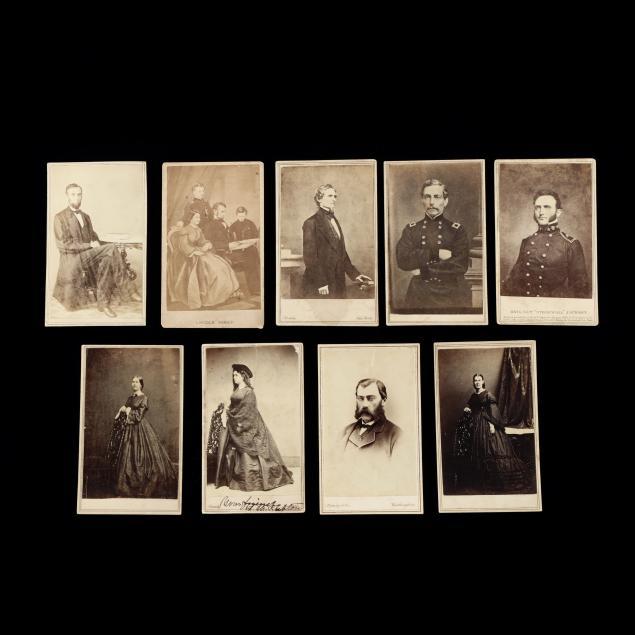 nine-civil-war-era-portrait-cdvs-to-include-a-rare-abraham-lincoln-image