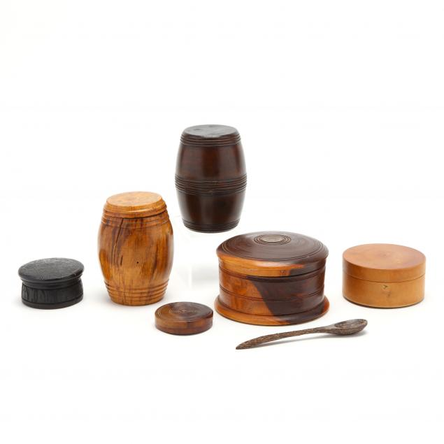 six-treen-ware-boxes