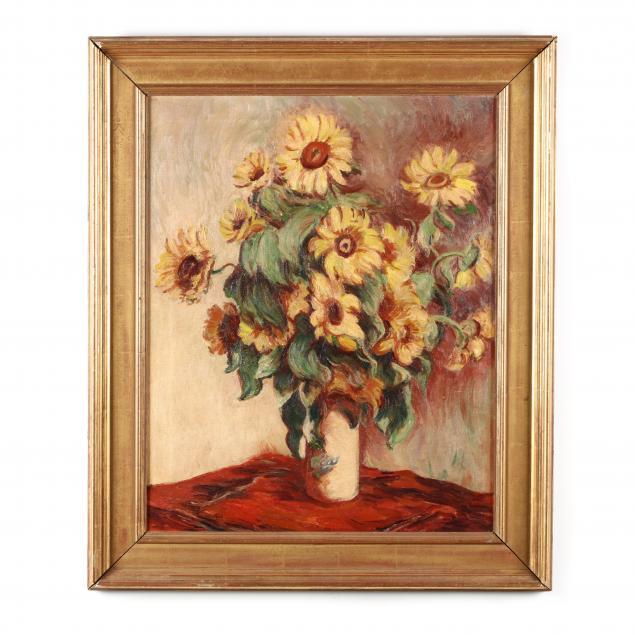 eugene-edward-speicher-ny-1883-1962-still-life-with-sunflowers