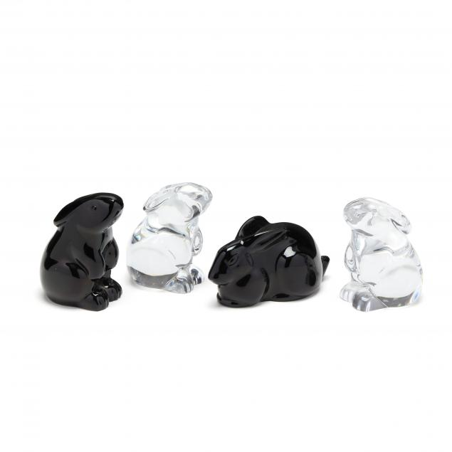 four-baccarat-crystal-rabbits