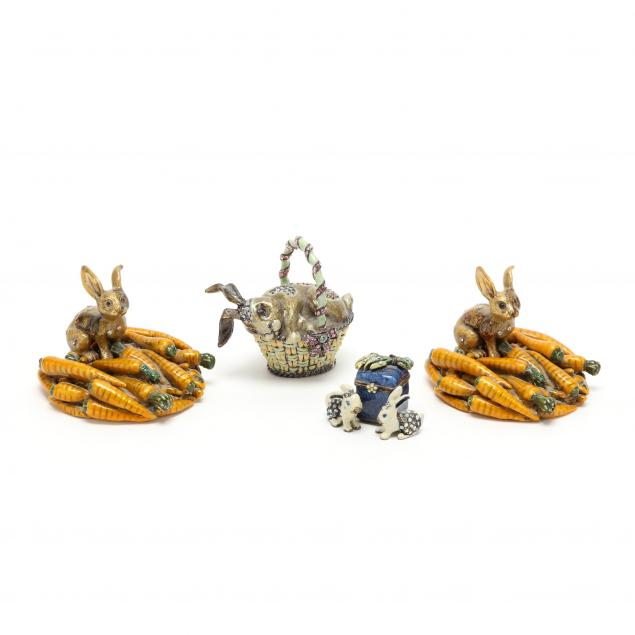 four-enamel-and-jewel-decorated-rabbits