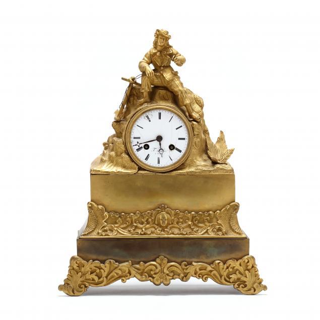 honore-pons-french-empire-dore-bronze-mantel-clock