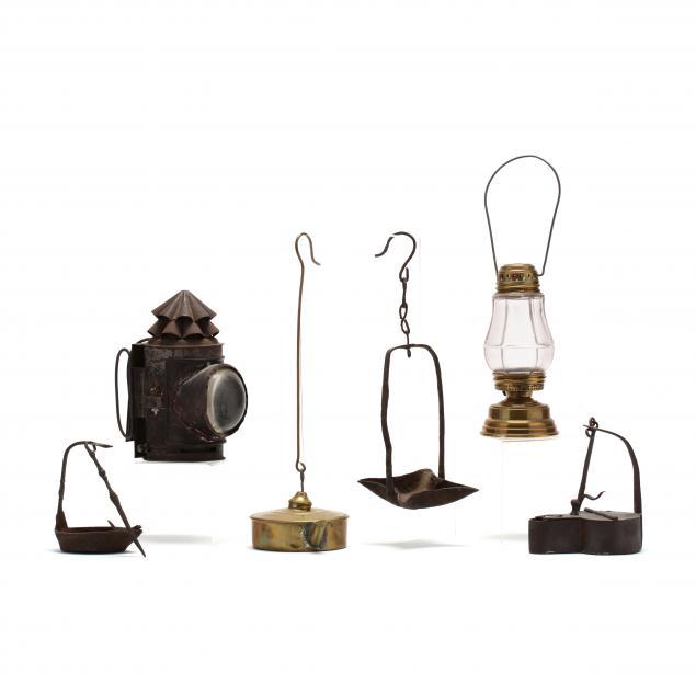 six-antique-lamps-lanterns