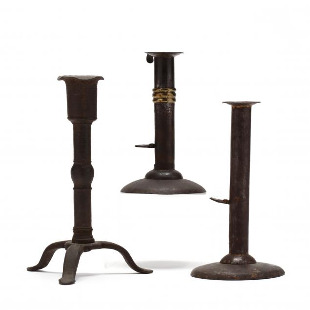 three-early-iron-candlesticks