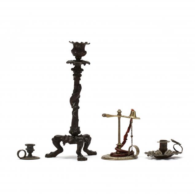 four-antique-candlesticks