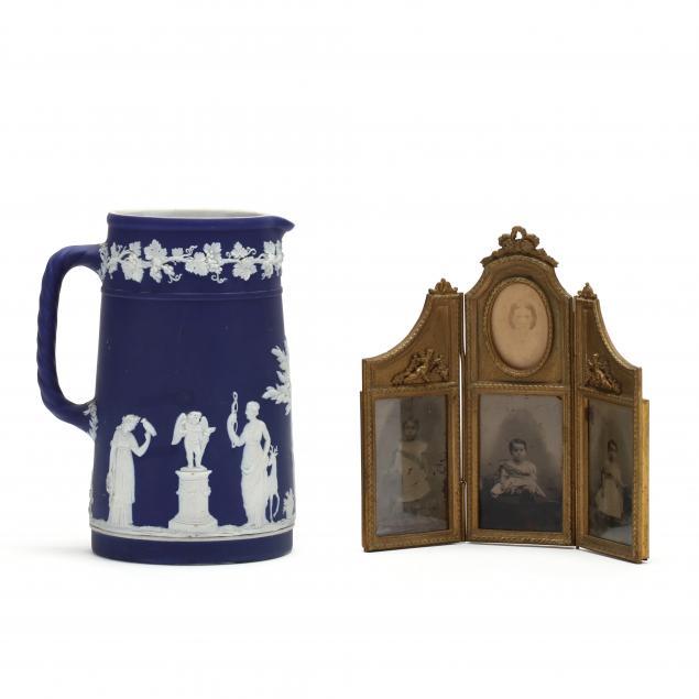 antique-wedgwood-porcelain-pitcher-and-dore-bronze-frame