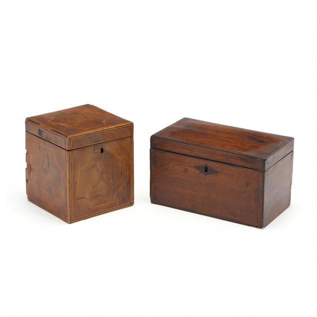 two-antique-inlaid-mahogany-tea-caddies