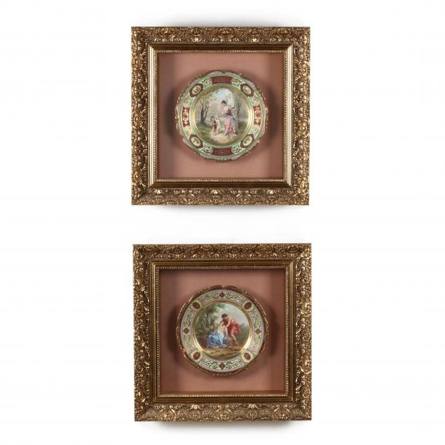 pair-of-framed-painted-porcelain-cabinet-plates