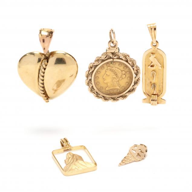 five-gold-charms-pendants