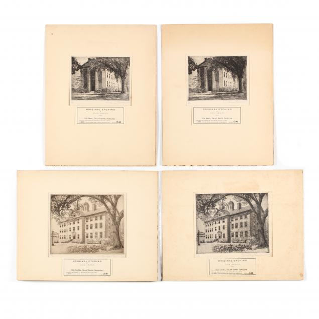 don-swann-american-1889-1954-four-etchings-of-old-east-and-old-south-the-university-of-north-carolina-at-chapel-hill