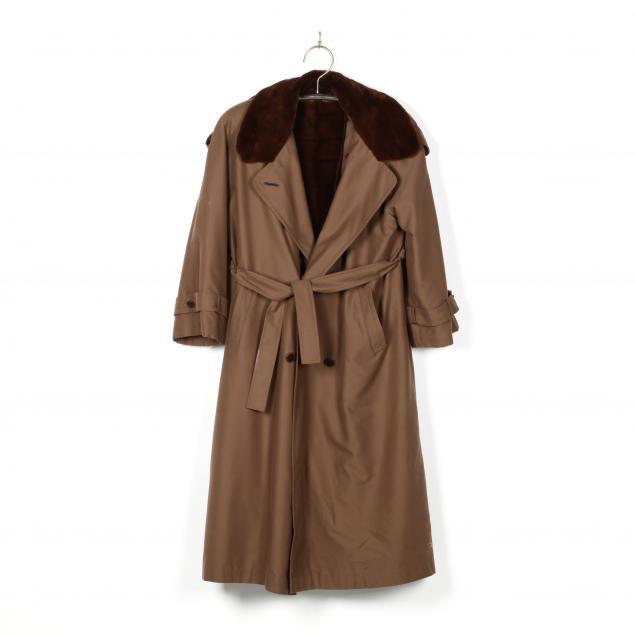 sheared-mink-lined-rain-coat