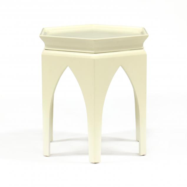 baker-hexagonal-lacquered-side-table